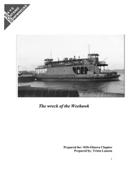 SOS Ottawa Research Report the Wreck of the Weehawk 2009